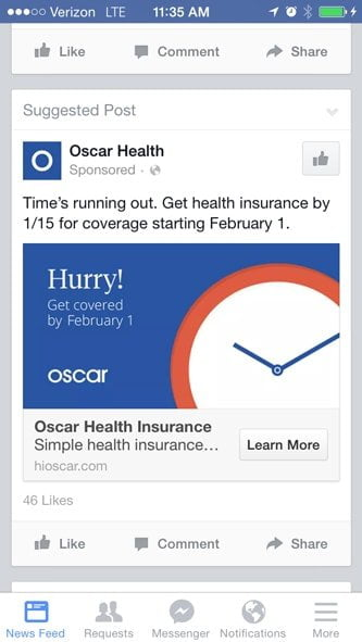 Facebook Brand Page Ads SEO died
